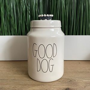 RAE DUNN Good Dog Large Canister Ivory